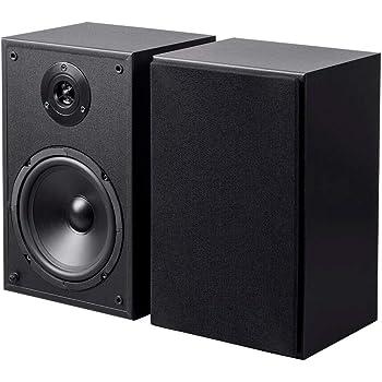 Monoprice6.5in 2-Way Bookshelf Speakers (Pair) Black