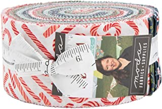 to Be Jolly Jelly Roll 40 2.5-inch Strips by One Canoe Two for Moda Fabrics
