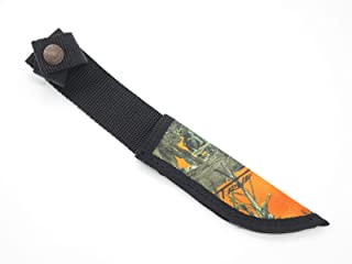 CASE XX Hunter Orange Camo Nylon Fixed 5 Inch Blade Hunting Knife Sheath