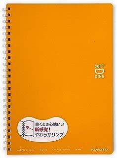 KOKUYO Notebook Soft Ring 50 sheets - pack of 2 books(ORANGE)