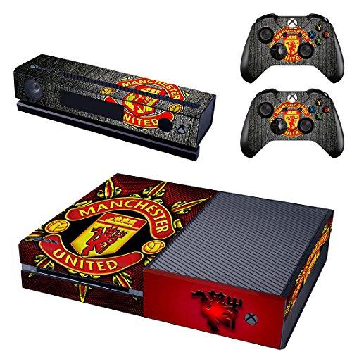 Manchester United Xbox One Skin Sticker Vinyl Aufkleber Schutzfolie zum Konsole & 2 Controller NEU