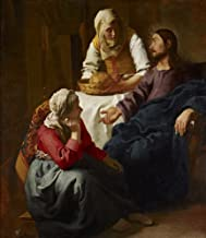 Berkin Arts Johannes Vermeer Giclee Canvas Print Paintings Poster Reproduction(Christ in The House of Martha and Mary)