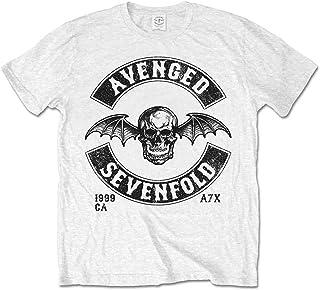 Rock Off Avenged Sevenfold A7X Moto Seal Oficial Camiseta para Hombre
