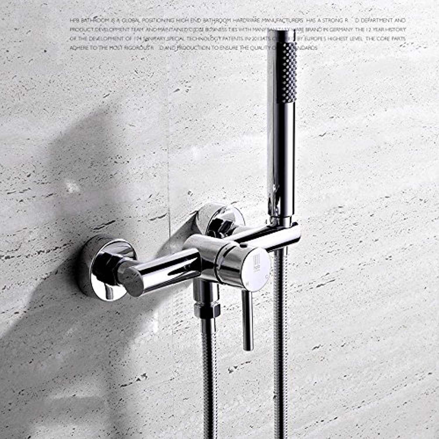 SUHANG Hot And Cold Shower Copper Mixing Valve Installed Free Drilling Integral Shower
