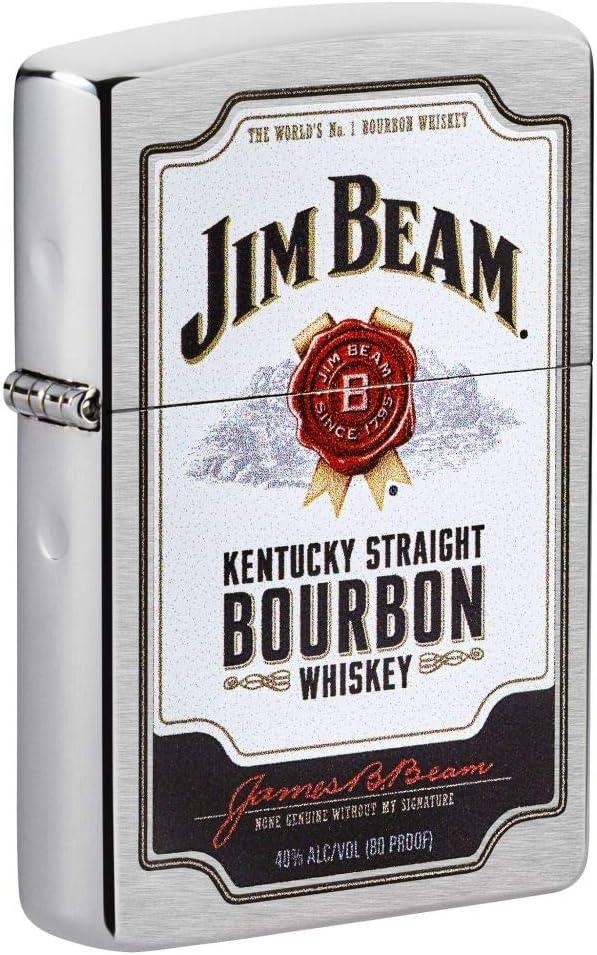 Zippo Jim Beam Super beauty product restock quality top! Kentucky Bourbon Pocket Label Brushed Ranking TOP7 Ligh Chrome