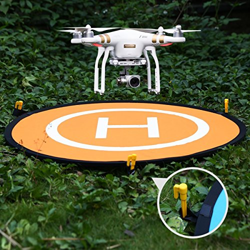 7xinbox Foldable Landing Pad for Phantom 2/3/4/4 Pro, Inspire 1/2, Mavic Pro, 3DR Solo, Parrot, Yuneec Typhoon, Antel Robotic X-Star, Other RC Drone Quadcopter Helicopter