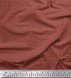 Soimoi Marrón Georgette poli Tela Botones tela de camisa tela estampada de 1 metro 52 Pulgadas de ancho