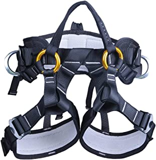 kissloves Full Body Safety Climbing Harness Outdoor Rock Climbing Harness Half Body..
