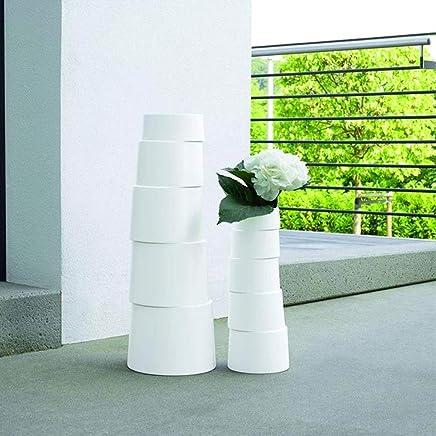 ASA 1064091/Hula Vase en c/éramique au Sol 70/x 33/x 70/cm Blanc