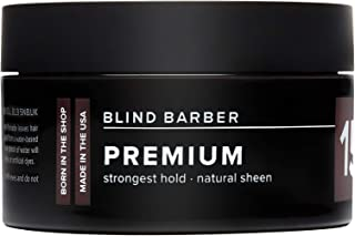 Blind Barber 151 Proof Premium Pomade - Maximum Hold Water Based Hair Pomade for Men with Natural High-Sheen Finish (2.5oz / 70g)