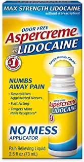 Aspercreme 4% Lidocaine No Mess Applicator, 2.5 Ounce (Pack of 3)