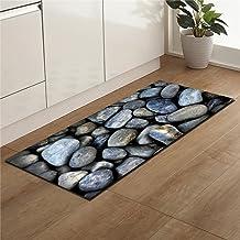 3D Cobblestone Kitchen Mat Anti-Slip Area Rug Living Room Balcony Bathroom Carpet Doormat Decoration 45x140cm
