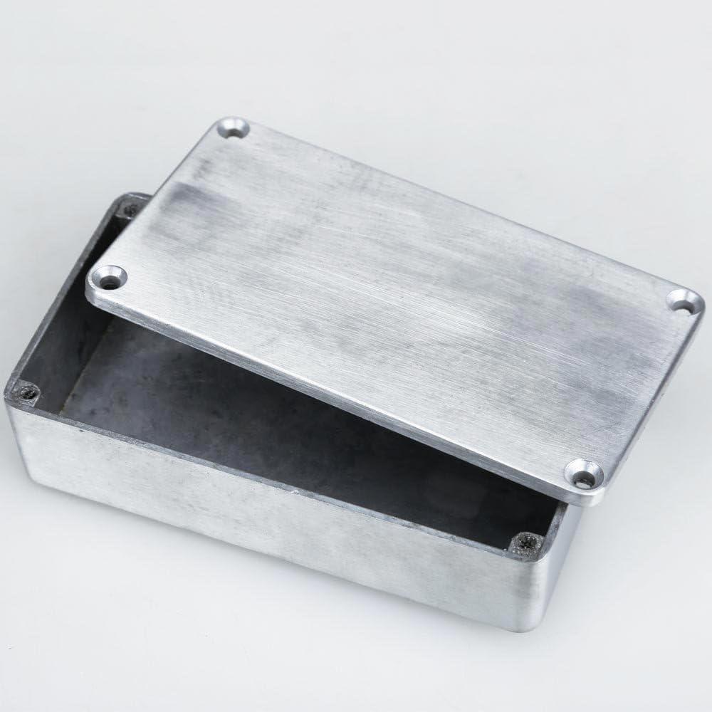 ,a 1590B Estilo Efectos Pedal Caja de Aluminio Stomp Box para Guitarra
