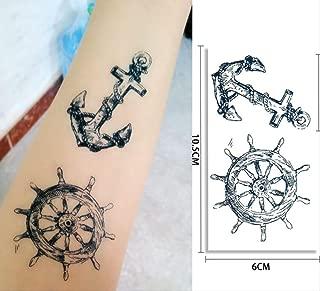 Anchor ship timón tatuaje pegatinas impermeable campus hombres y ...