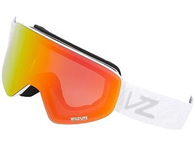 VonZipper Encore (White Satin/Wildlife Fire Chrome) Goggles