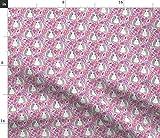 Spoonflower Stoff – kleine Meerschweinchen rosa lila