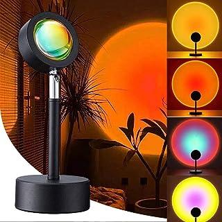 Sunset Projection Lamp, Locinoe Night Light Projector Led Lamp, 180 Degree Rotation Rainbow Floor Stand Modern Projection ...