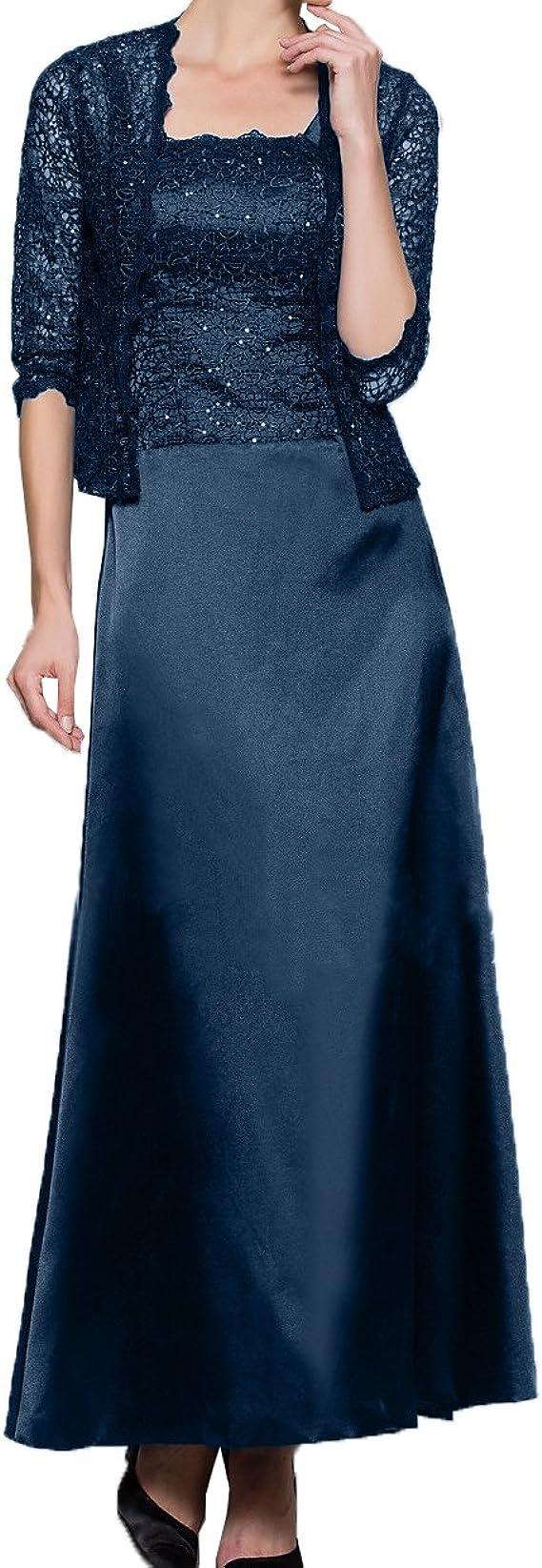 Royaldress Knoechellang Ballkleider Abendkleider Elegant Lang 2019 Kleid Fuer Brautmutter Mit Bolero 44 Navy Blau Amazon De Bekleidung