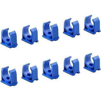 Band 15mm Colliers de fixation de tubes P-Clips de serrage avec insert en caoutchouc choix 4 Pi/èces /Ø 20mm