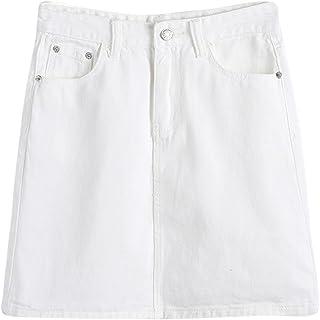 c4e11776b392db Donna Casual Colore Puro Vita Alta Denim Mini Gonna Di Jeans Corta