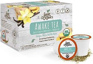 Super Organics Awake Black Tea Pods With Superfoods & Probiotics   Keurig K-Cup Compatible   Energy, Revitalizing, Refresh...