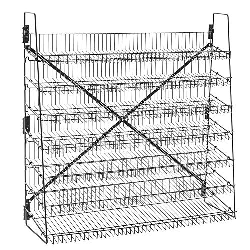 Wire Display Rack, 7 Tier, 48' Wide, Black, Free Stand or...
