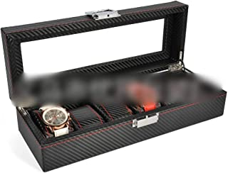 Watch 6 Slot Watch Display Box Watch Storage Box with Pillows Holders Watch, Fashion Watch (Color : Black-6)