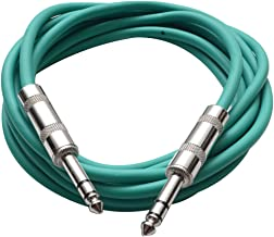 Seismic Audio - SATRX-10 - Green 10' 1/4 TRS to 1/4 TRS Patch Cable