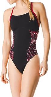 Speedo Women's Swimsuit One Piece Endurance+ Flyback Block Adult Team Colors