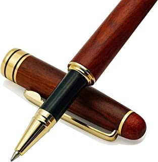 IDEAPOOL Genuine Rosewood Ballpoint Pen Writing Set - Elegant Fancy Nice Gift Pen Set for Signature Executive Business