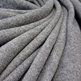 Stoff Meterware Fleece Polar - Fleece weich grau meliert