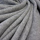 Tessuto al metro in pile Polar – pile morbido grigio mélange, morbido tessuto per abiti