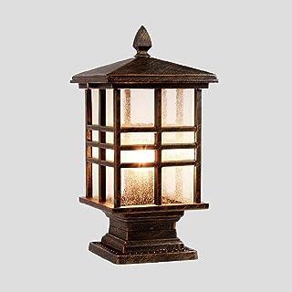 SEESEE.U European Outdoor Square Pillar Lamp Garden Villa Waterproof Light Gate Wall Lamp Exterior E27 Decoration Illumina...