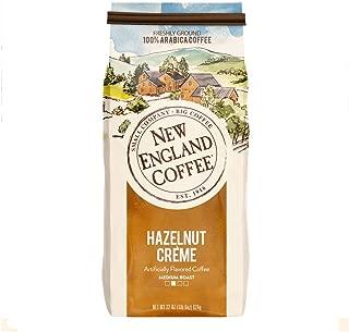 New England Coffee, Hazelnut Creme, Medium Roast Ground Coffee, 22 Oz Bag