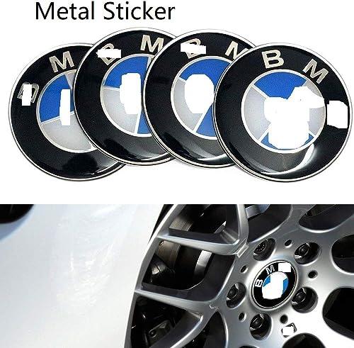 Cloudsale 1 Set (4 pcs) Aluminum Alloy car Wheel Center hub Cap Sticker Emblem Decal for BMW