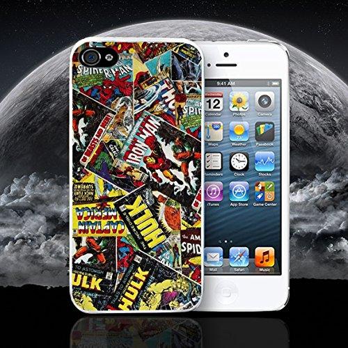 Super Hero de cómic Marvel DC Apple iPhone Caso Funda Compatible con iPhone 6–6S Blanco Funda