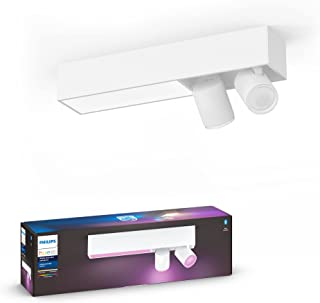 Philips Hue Centris White and Colour Ambiance Smart Ceiling Bar Light, 2X SpotLights [GU10 Spot] with Bluetooth, White. Wo...