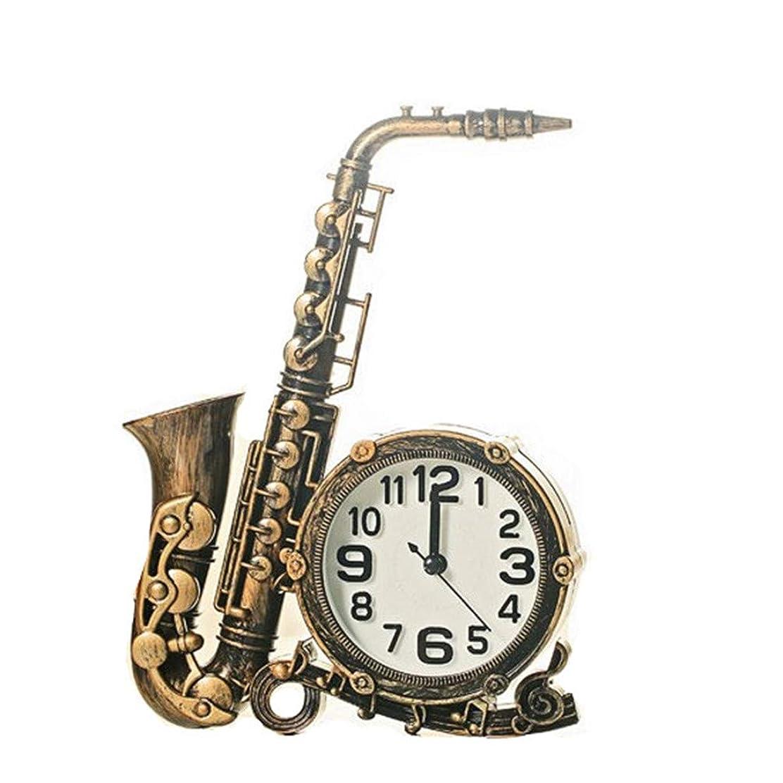コンプリート気分惑星ヨーロッパの装飾品サックス楽器オフィスベッドサイドデスクトップの目覚まし時計時計リビングルームの寝室の家の贈り物