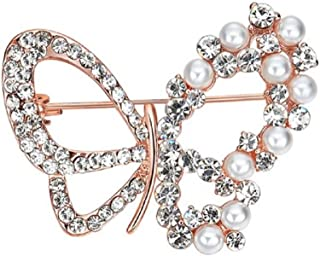 Rose's Gift Store~Fashion Jewelry Butterfly Crystal and Beads Brooch