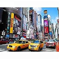 大人のためのジグソーパズル1000個の賑やかなニューヨークの通り教育ゲーム大人の子供のためのブレインチャレンジパズル