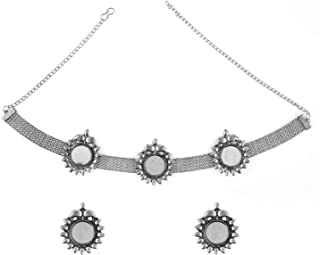 Efulgenz - Set di orecchini a girocollo in stile bohémien, stile vintage, con ossidazione, per donne e ragazze