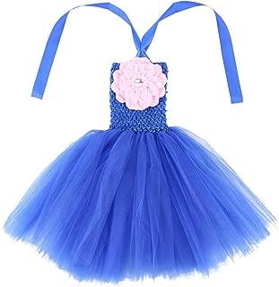 Wennikids Baby Girls Tutu Dress Crochet Tube Top Baby Pettiskirt with Match Flower