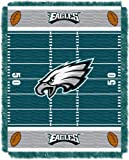 Officially Licensed NFL Philadelphia Eagles 'Field' Woven Jacquard Baby Throw Blanket, 36' x 46', Multi Color
