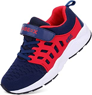 FLORENCE IISA Kids Tennis Shoes Breathable Lightweight Athletic Sports Running Sneakers for Boys & Girls