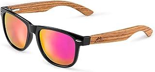 GREENTREEN Occhiali Da Sole Polarizzate per Uomo e Donna, Occhiali con Astine in Legno/bambù e Lenti Polarizzate, UV 400