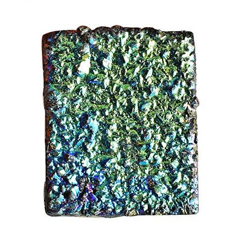 Hermoso cabujón drusa de titanio, forma rectangular, tamañ
