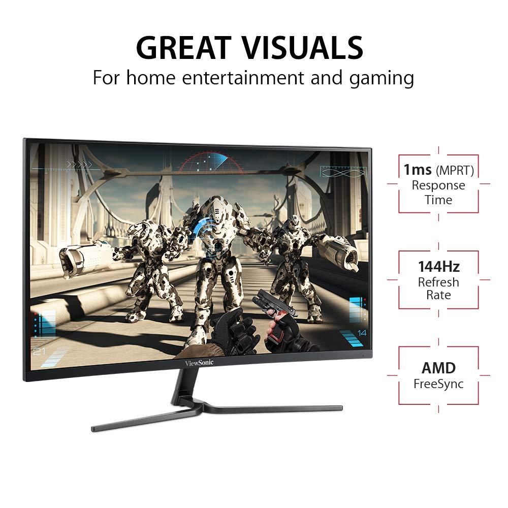 ViewSonic VX2458-C-MHD Monitor Gaming Curvo Full HD 24