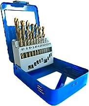 S&R Brocas HSS para Metal Profesionales. Juego de 19 brocas de 1,0 a 10 mm, DIN 338, HSS cobalto, cobalto aleado C - corte pulido a la norma DIN 1412 135 °. En solida caja de metal.