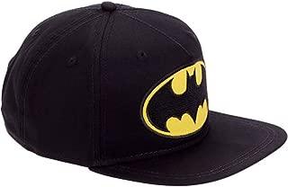 Batman Logo Boys Flat Bill Snap Back Baseball Hat, Youth