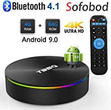 Sofobod T95Q TV Box Android 9.0 4GB RAM 64GB ROM, Quadcore TV Box H.265 Decoding, HD 4K 3D USB3.0 Dual WiFi 2.4G/5G BT4.0 TV Box